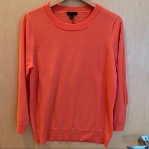 J Crew Tippi Merino Wool Sweater in Dark Coral XL